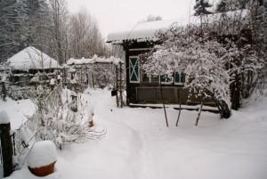 Jeden Tag wird es mehr Schnee.